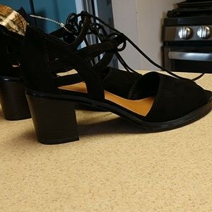 dc33b2f21e0b Women s Black Mia Lace Up Heels on Poshmark